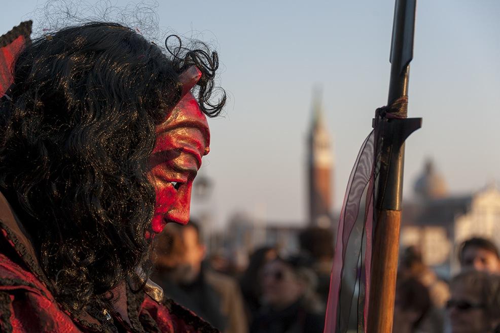 Devil Sunset venice carnival