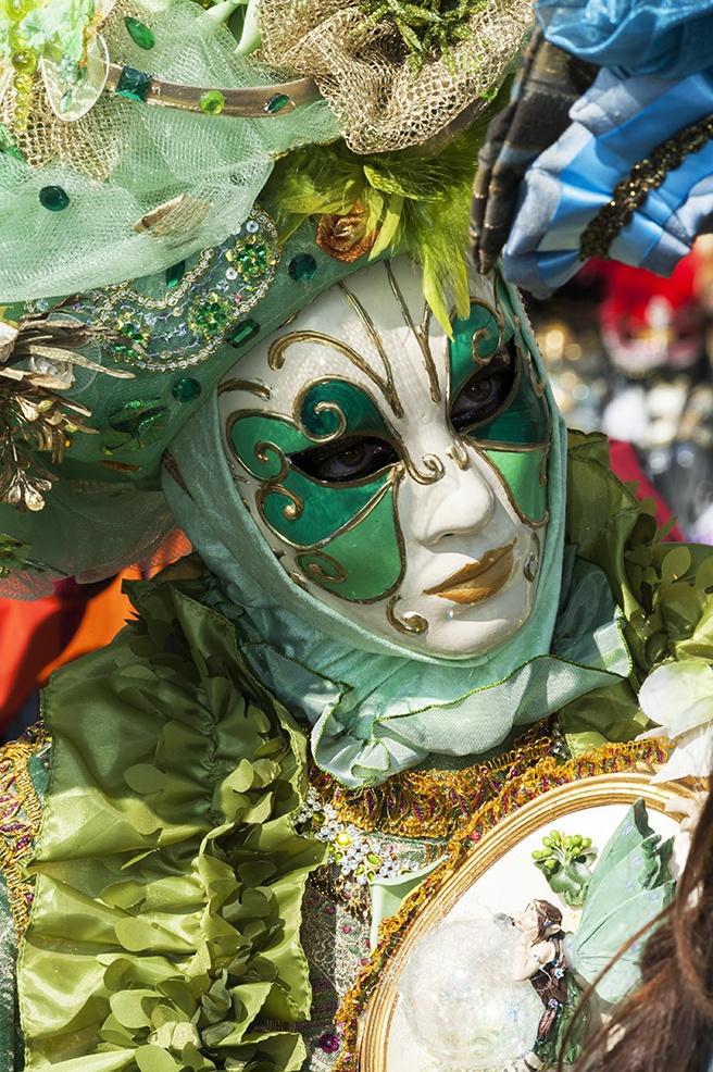 Green Face carnival venice