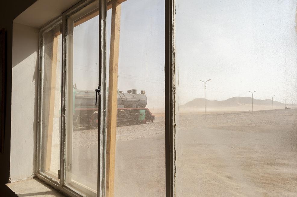 great arab revolt Steam Train Station Window