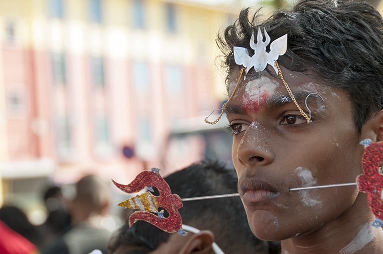 Thaipusam Boy with Spear