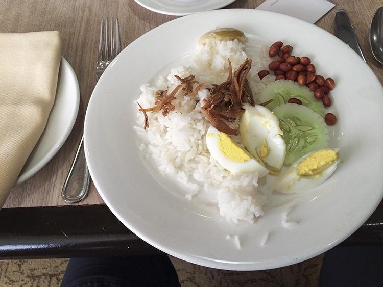 Nasi Lemak from a hotel buffet