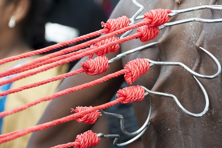 Thaipusam Hooks and Red Rope