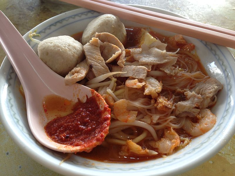 A bowl of Penang Hokkien Mee. Credits: Wikipedia/Dreamtrooper