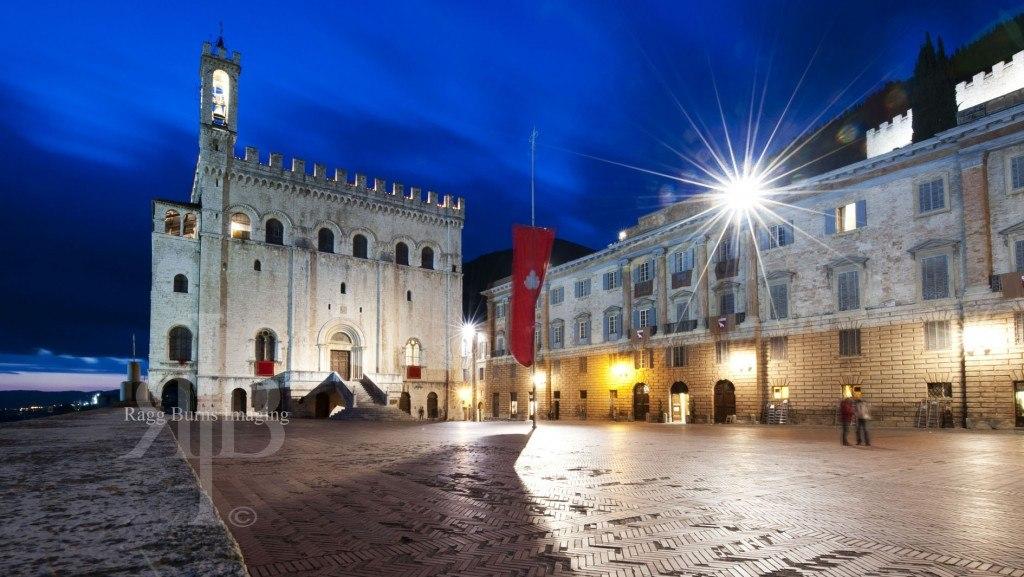 Ceri Di Gubbio Main Square Night