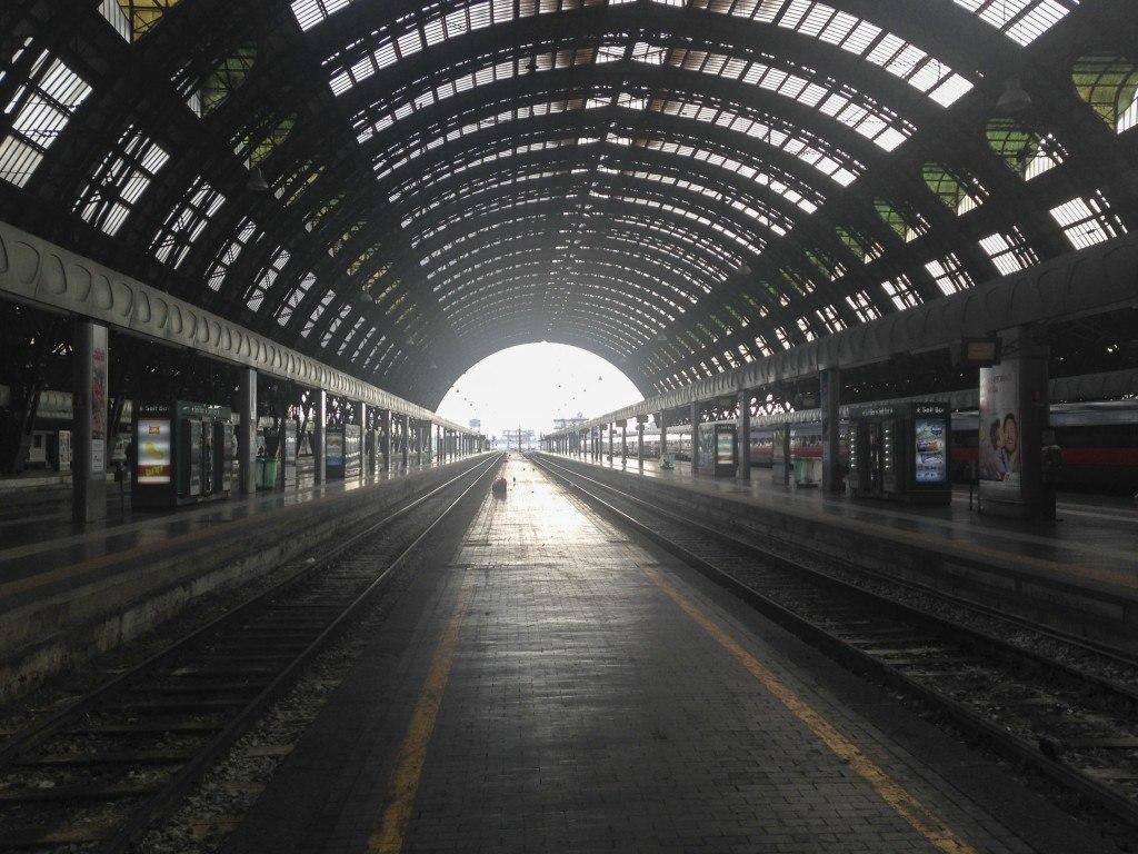 Empty train Station Platform