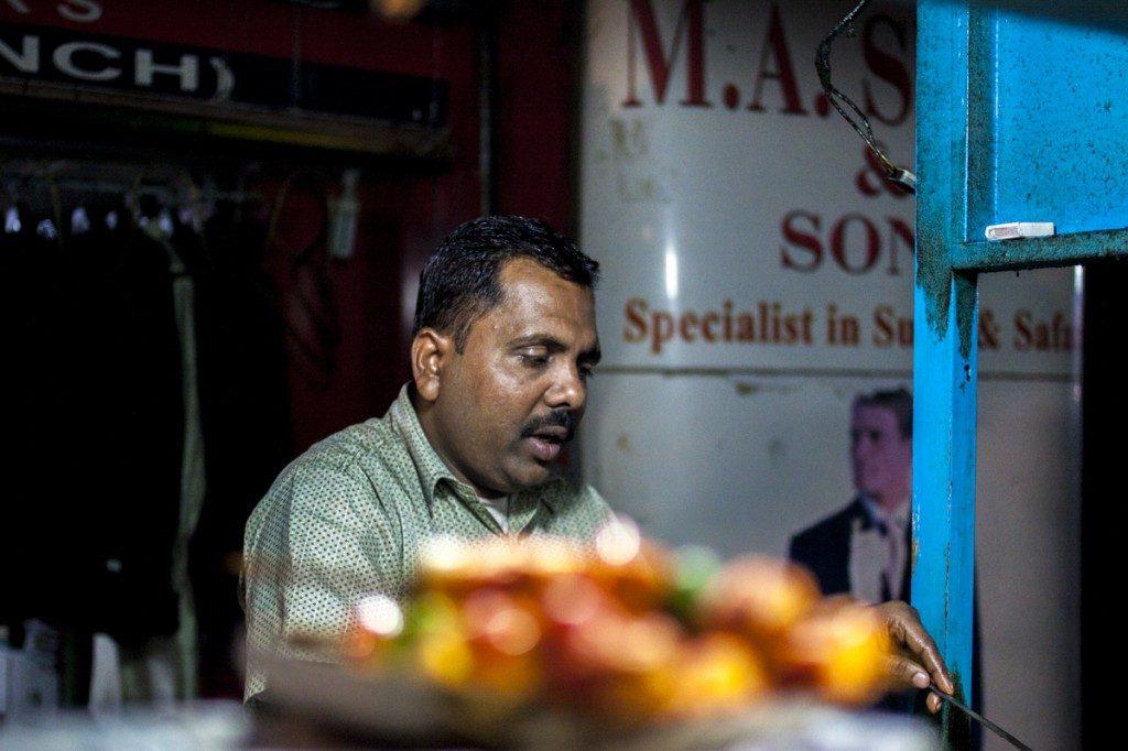 Calcutta street stall vendor