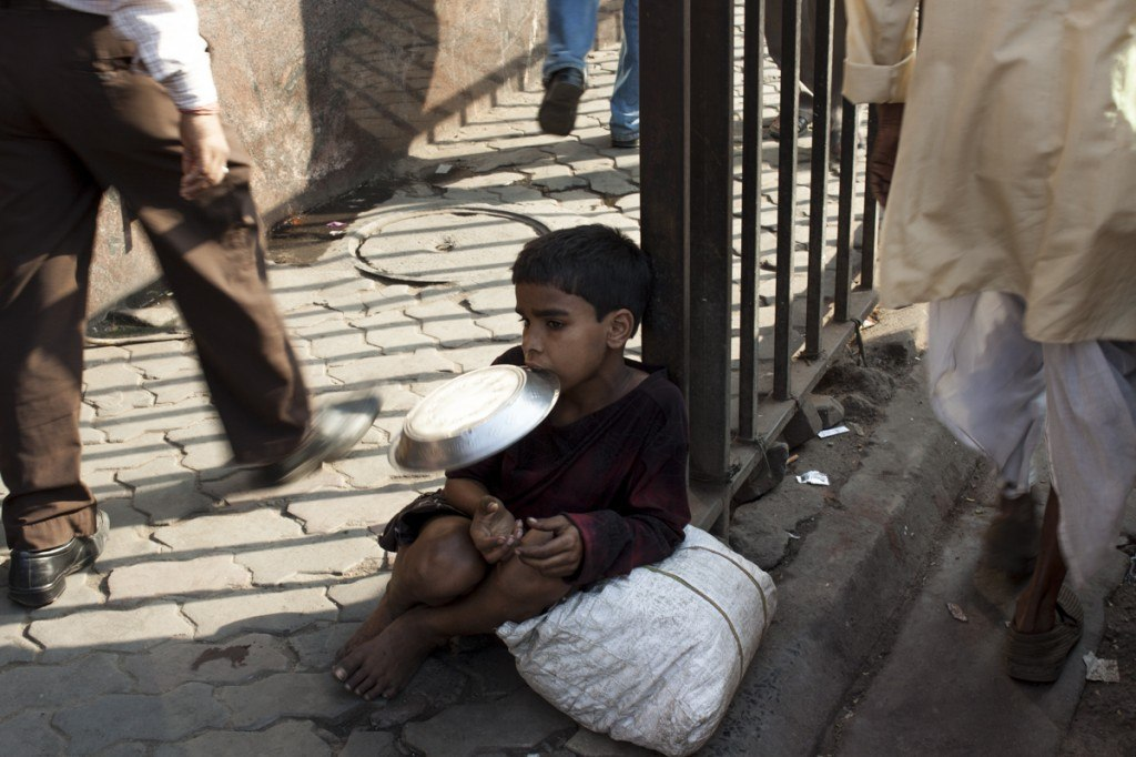 Calcutta street boy