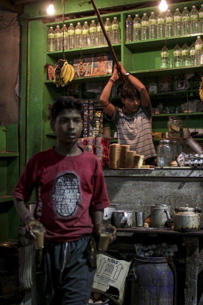 Calcutta boys chai stall