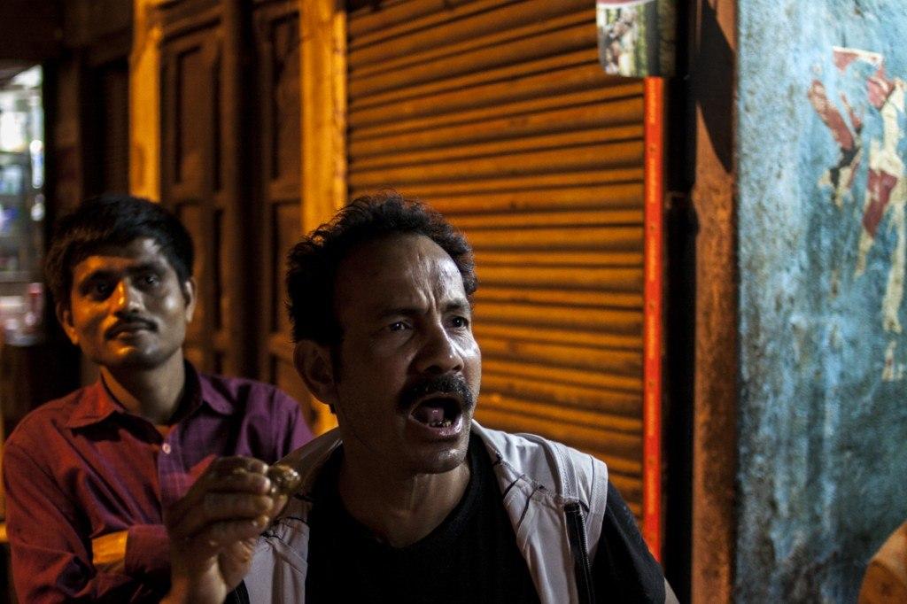 Calcutta man shouting