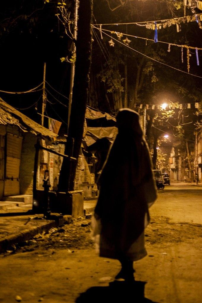 Calcutta night slums