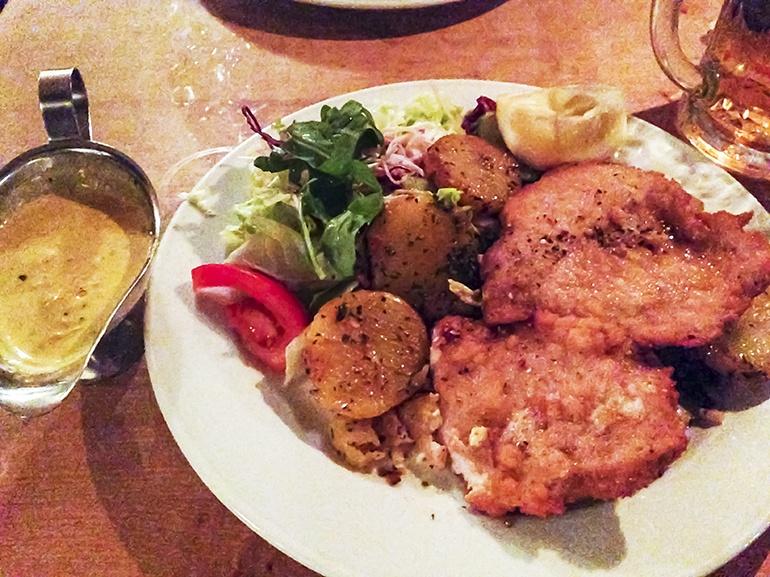 Hamburg Schintzel Dinner