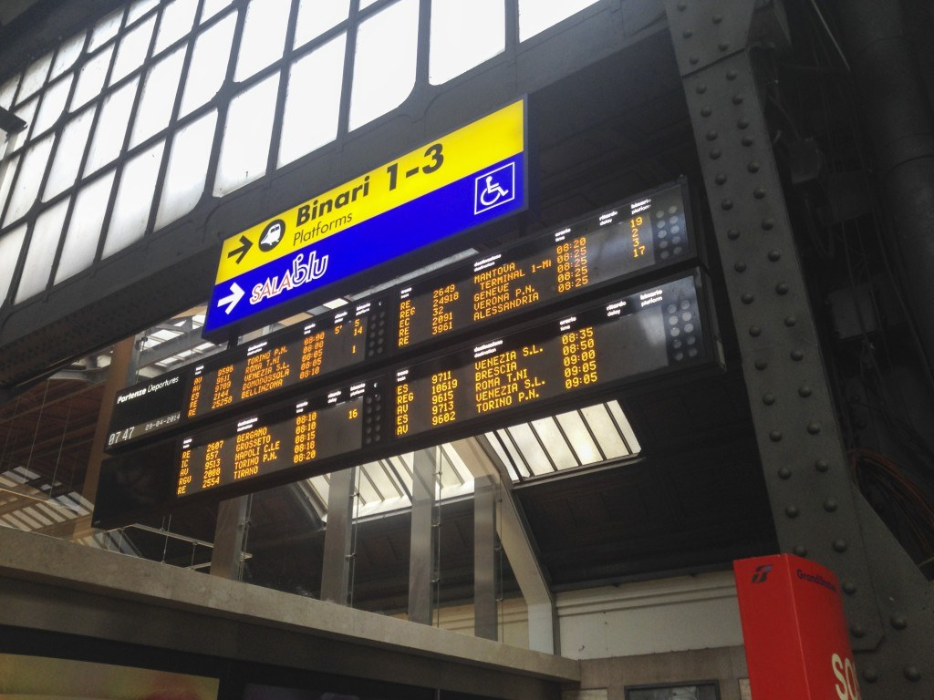 Departures Board at Milan Centrale
