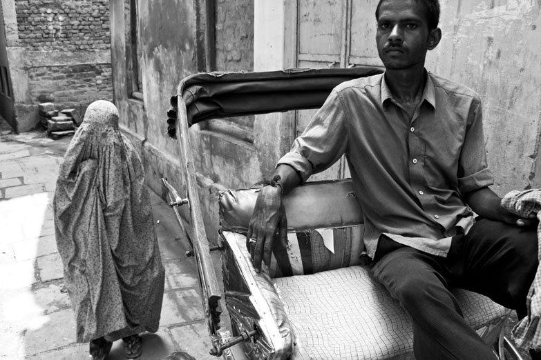 Varanasi rickshaw burqa