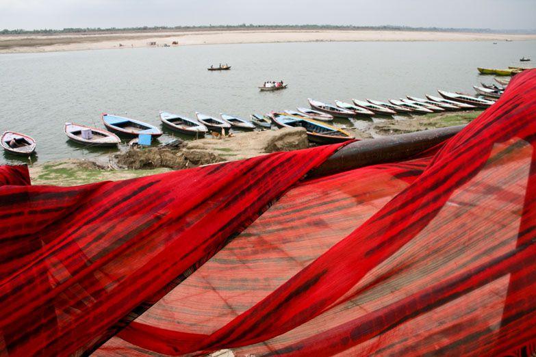 Varanasi sari red