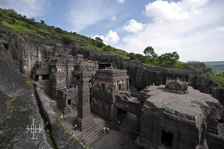 India Ellora rock temple