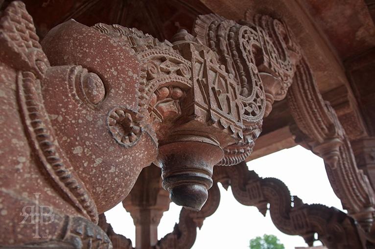 India Fatehpur Sikri elephant carving