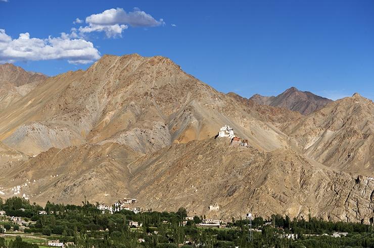 India Leh monastery on a Hill