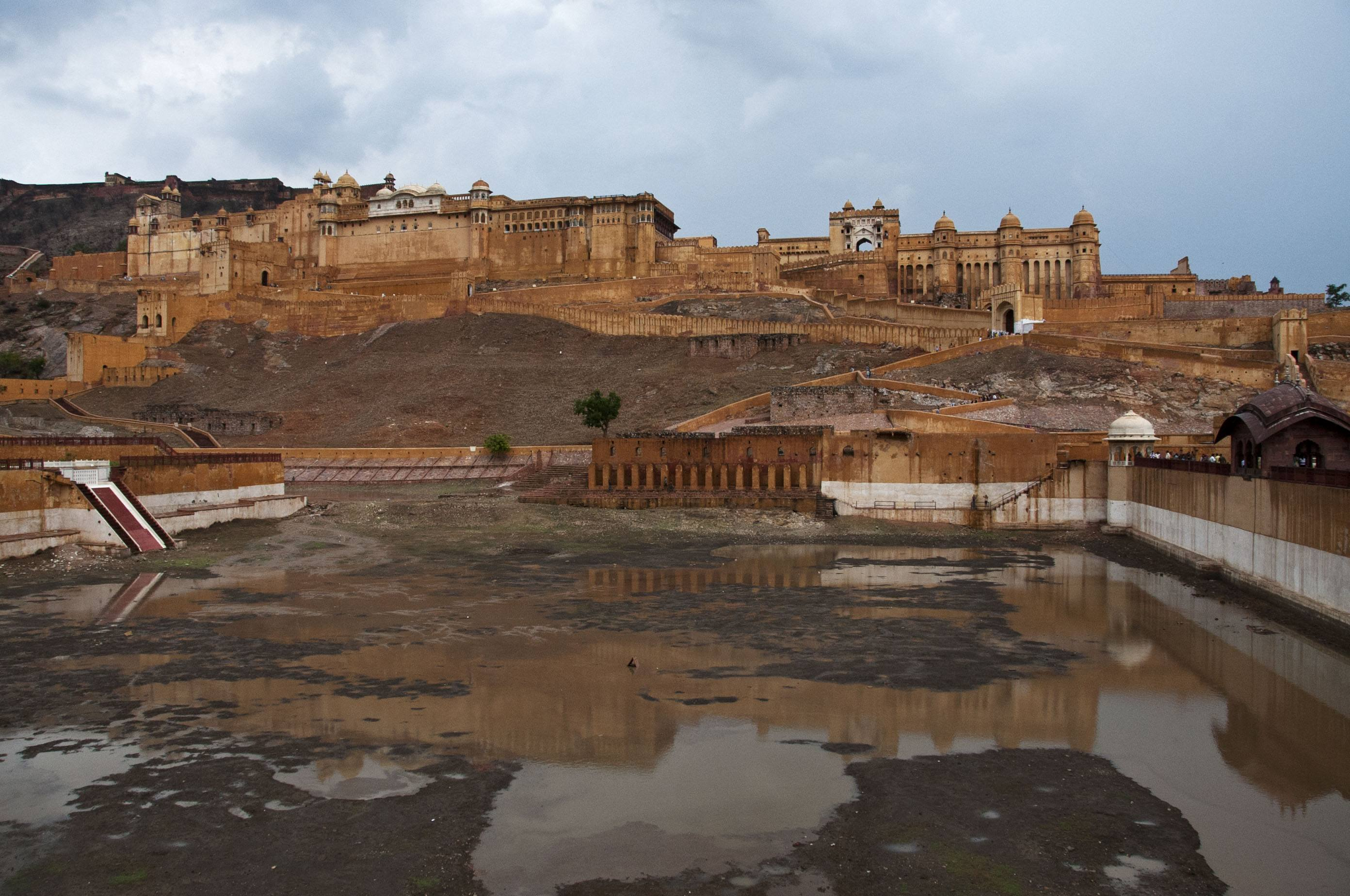 Amber Fort after a monsoon downpour