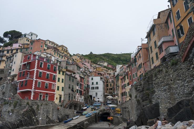 Cinque Terre by train Riomaggiore