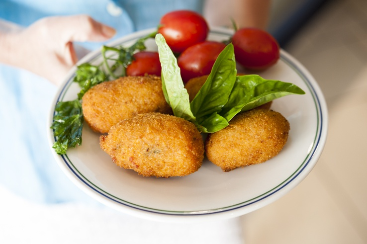 Sorrento Food Tour Arancino plate