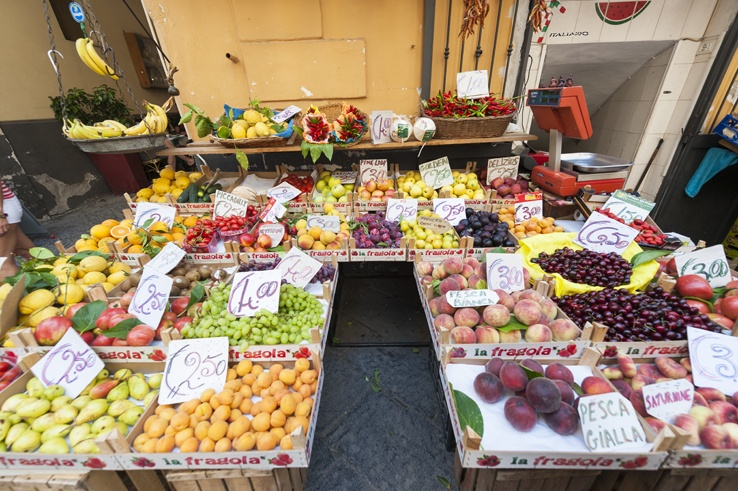 Italy Sorrento Fruit Stall