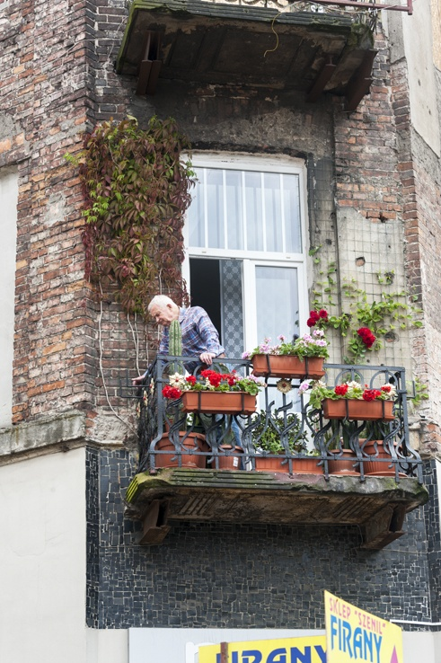 Warsaw Local Man in the Window