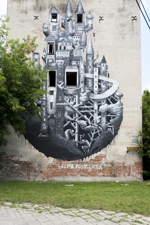 Warsaw Local Street Art Castle