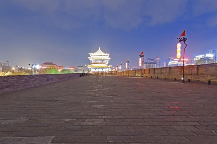 things to do in Xian Wall Night
