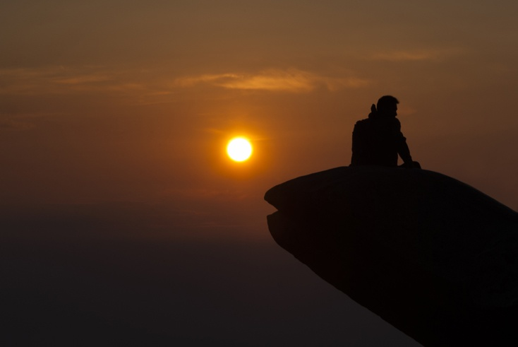 Tai shan Sunrise silhouette