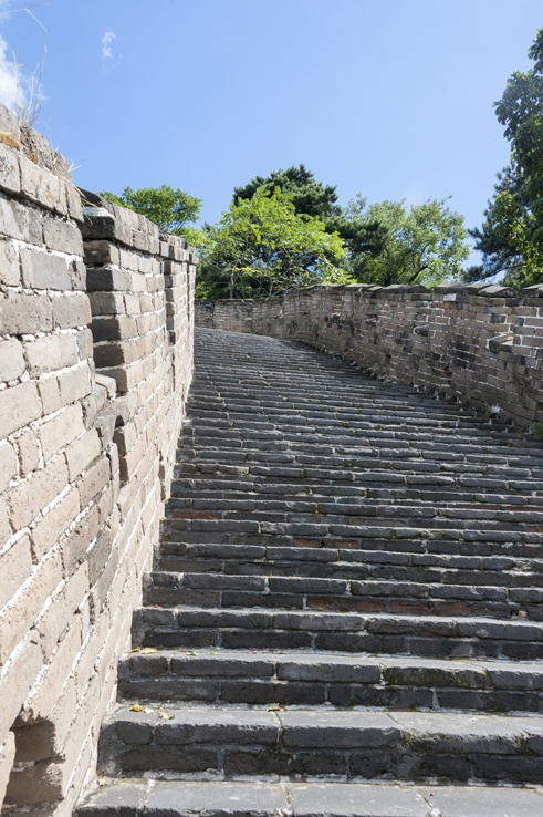 Great Wall at mutianyu stairs