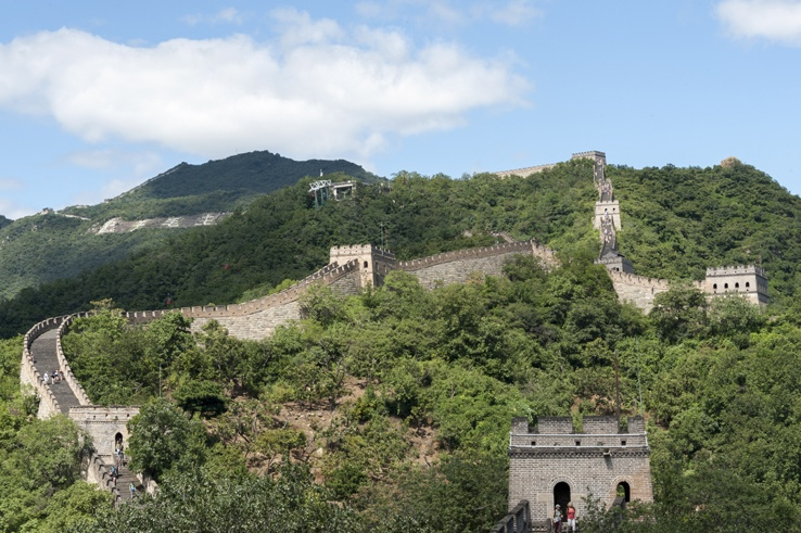 A view of Mutianyu's surrounds