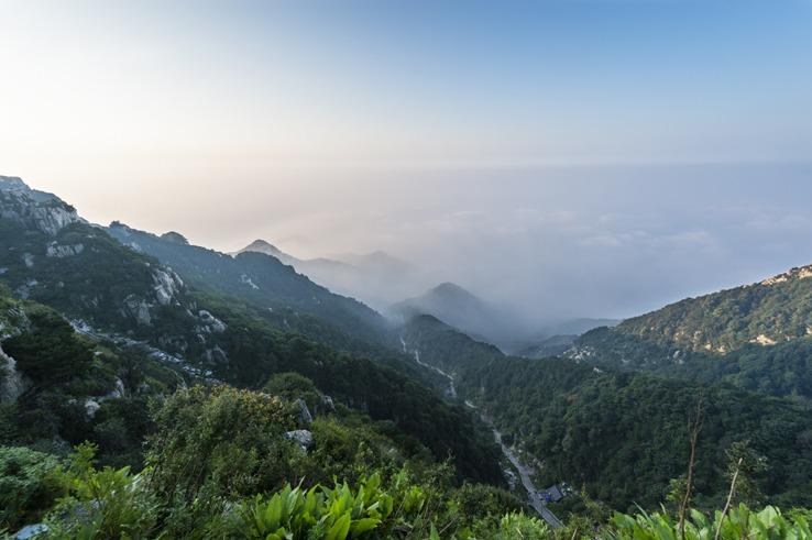 Mount Tai Shan blue sky