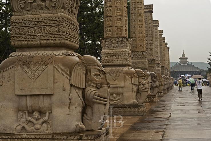 Elephant Columns Yungang Datong