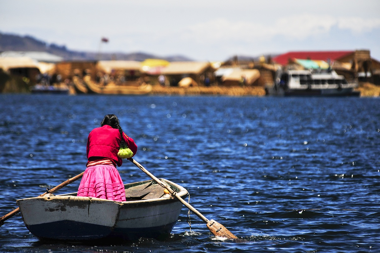Rowing Lake Titicaca