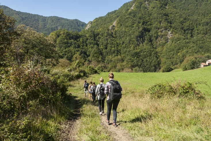 trekking to eco commune