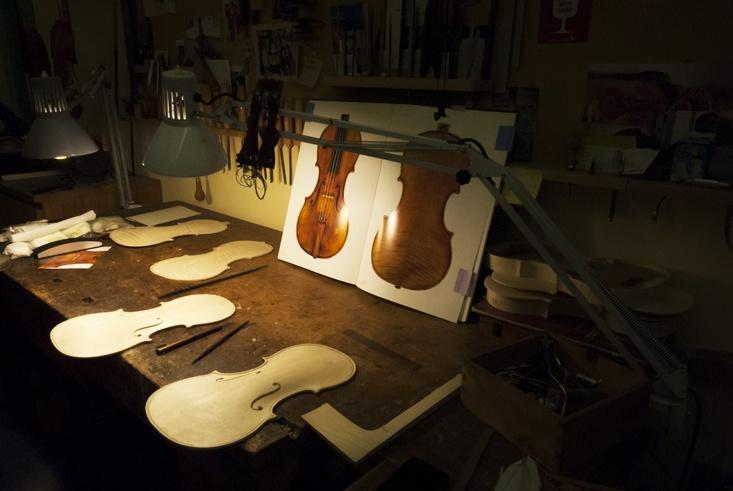 Edgar russ Violin workshop