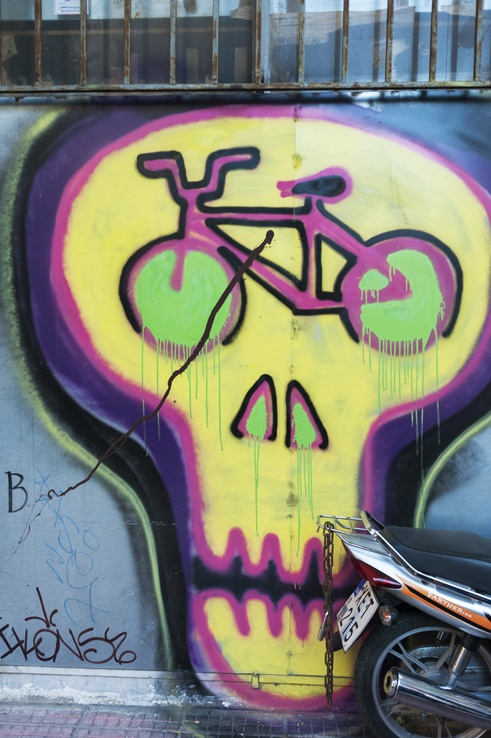 Athens copy bike skull