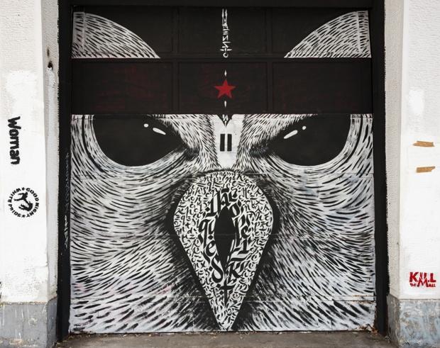 calligraphy Art Blaqk owl
