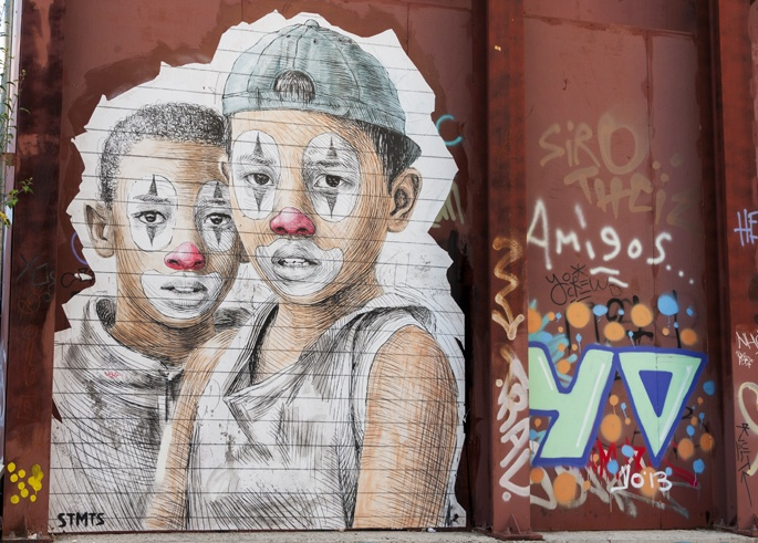 paste up clown kids STMTS