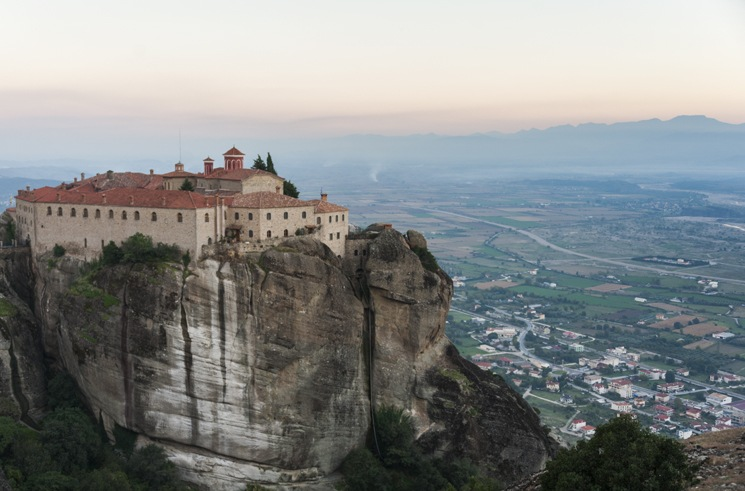 Meteora Sunset holy trinity monastery