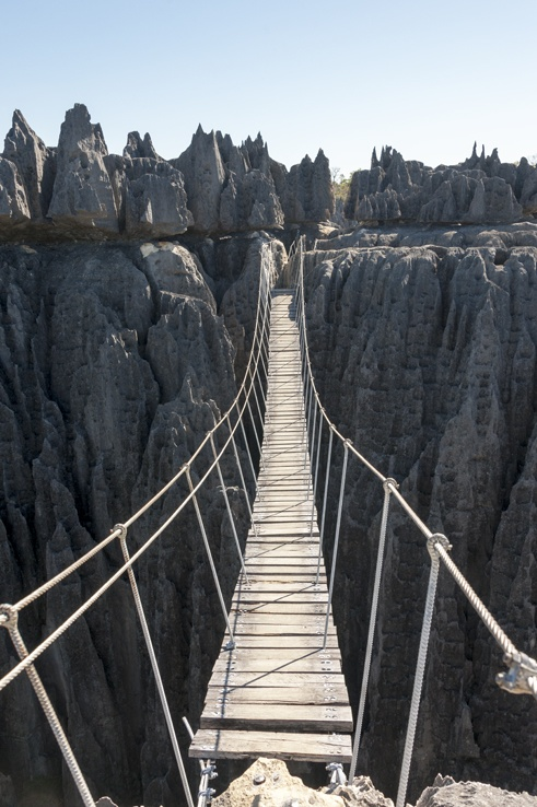 Tsingy de bemaraha suspension bridge