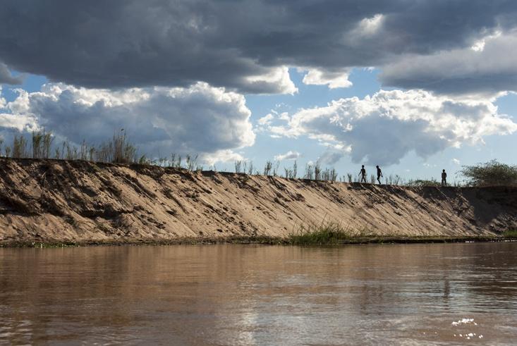 Tsiribihina River Boys on the Bank