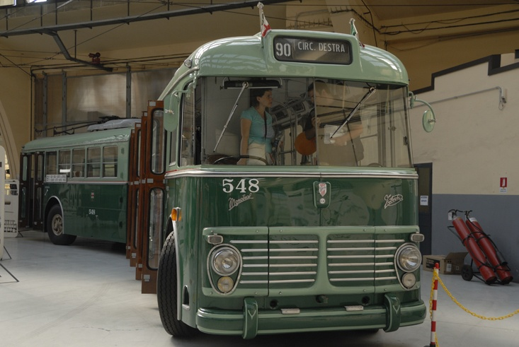public transport milan vintage