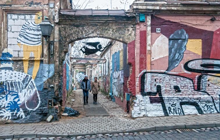 Lithuania Vilnius uzupis street art