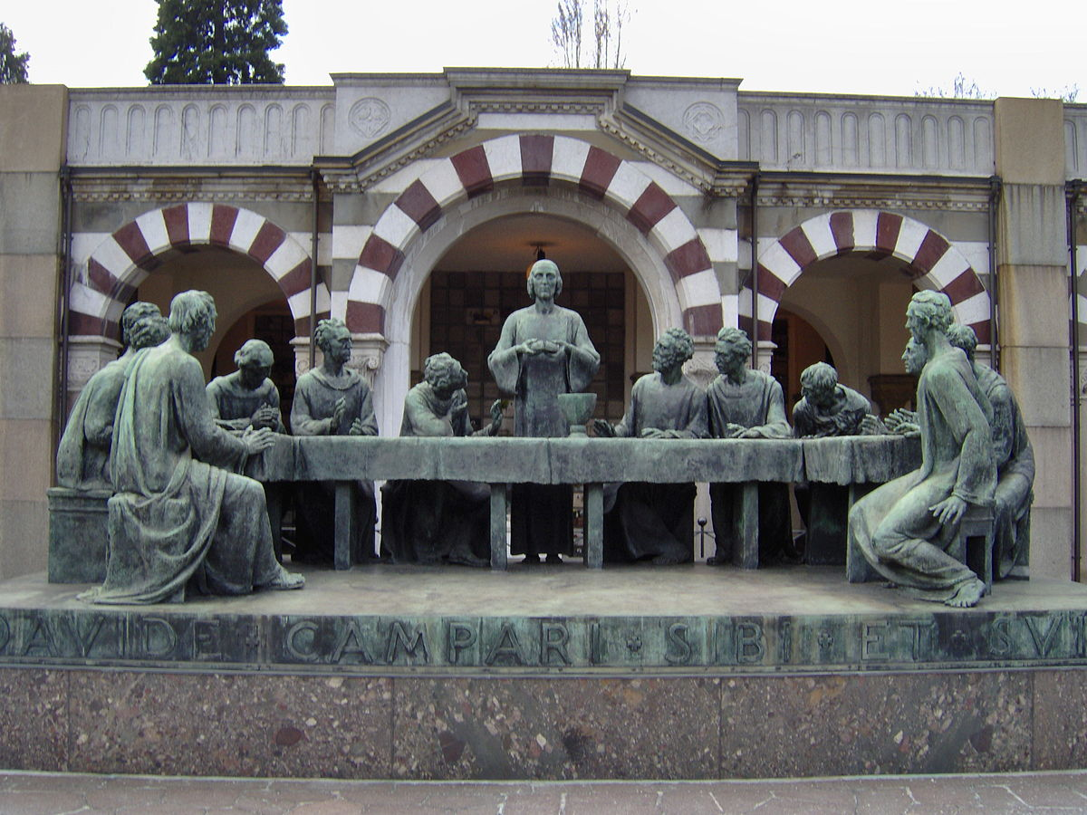 Last Supper at Cimitero Monumentale