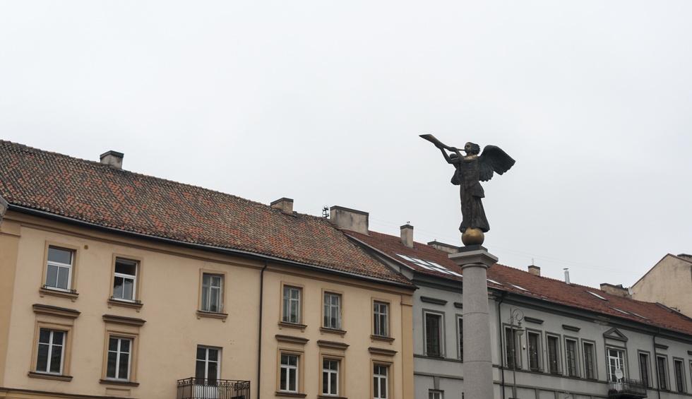 uzupis Vilnius Angel Trumpet