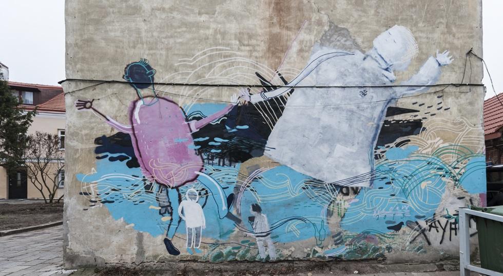Lithuania Vilnius Uzupio Street Art