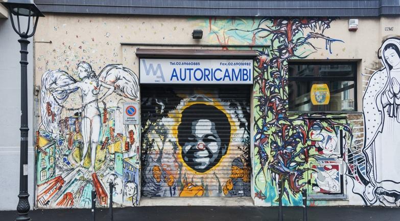 Milano Street Art collab piece