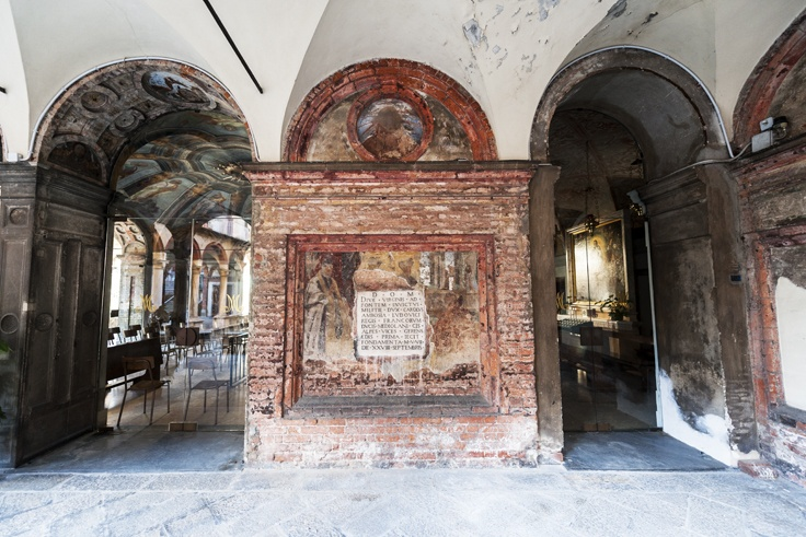 milan santa maria alla fontana cloister wall