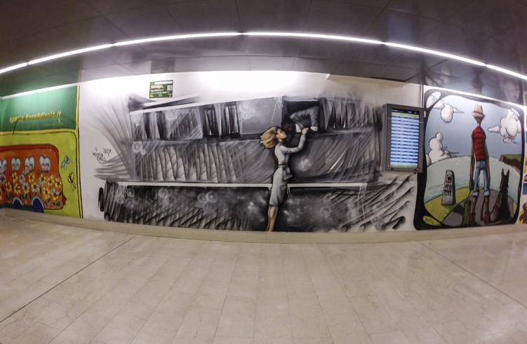 garibaldi station tunnel street art
